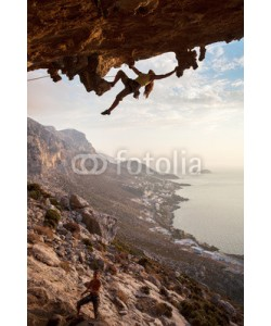 Andrey Bandurenko, Rock climbers at sunset, Kalymnos Island, Greece