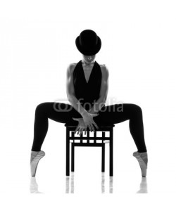 Andy-pix, pretty young ballerina sitting on the chair. Isolated