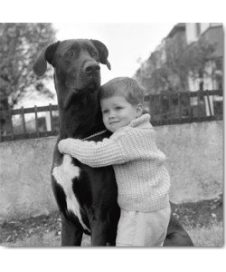 Anonym, A Child with dog