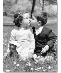 Anonym, Springtime in Rome (toddlers kissing)