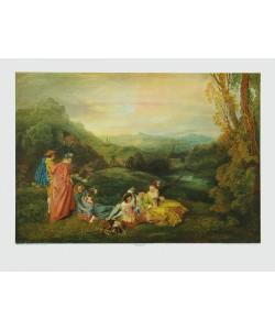 Antoine Watteau, Die Liebe auf dem Lande