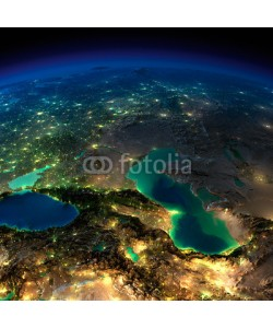 Anton Balazh, Night Earth. Caucasus and the Caspian Sea