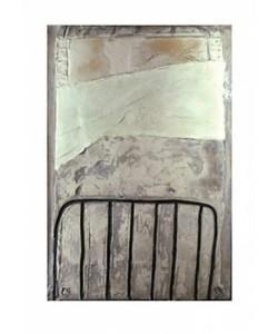 Antonio TAPIES, Grand blanc  la cage, 1965