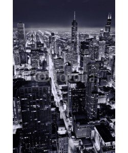 Andrew Bayda, Aerial view of Chicago downtown