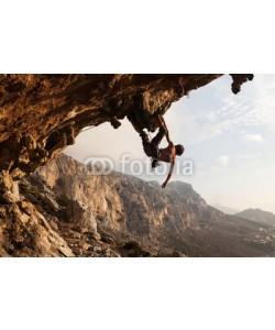 Andrey Bandurenko, Rock climber at sunset, Kalymnos Island, Greece