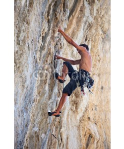 Andrey Bandurenko, Rock climber on a face of a cliff