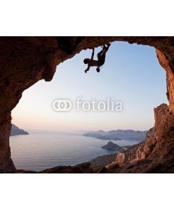 Andrey Bandurenko, Silhouette of a rock climber at sunset, Kalymnos Island, Greece