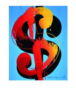 Andy Warhol, $ (blue)