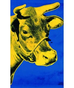 Andy Warhol, Cow (yellow / blue)
