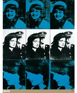 Andy Warhol, Nine Jackies, 1964