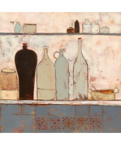 Anji Allen, French bottles with French tiles