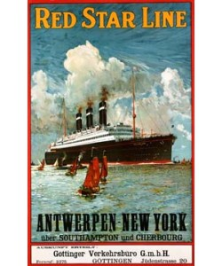 Anonymous, Red Star Line, Antwerpen - New York