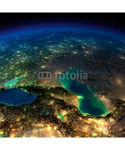 Anton Balazh, Night Earth. Caucasus and the Caspian Sea