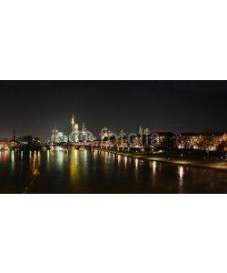anweber, Skyline von Frankfurt, Flussblick mit Main von Osten