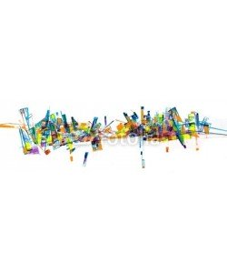 arsdigital, Abstract city skyline painting