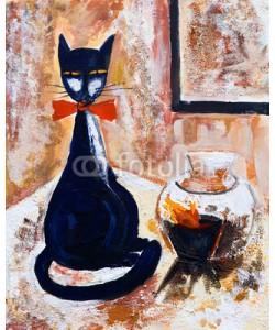 arsdigital, Chat norie avec un vase