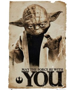 Leinwandbild, Unbekannt, Star Wars - yoda may the force