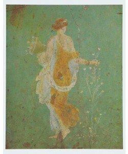 Leinwandbild, Arte Romana, La Primavera - Römisches Fresko