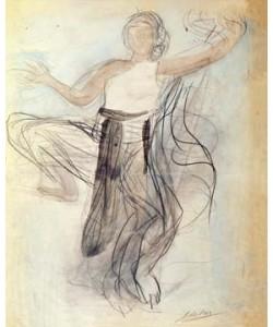 Auguste Rodin, Danseuse cambodgienne de face