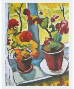 August Macke, Blumen am Fenster - Begonien
