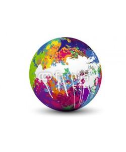 Baillou, sphère taches de couleur