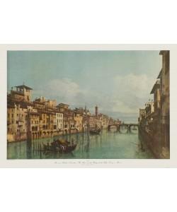 Bernardo Canaletto, Der Fluß Arno in Florenz, Ponte Santa Trinita