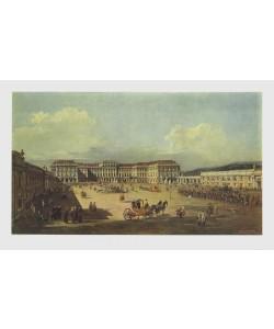 Bernardo Canaletto, Lustschloß Schönbrunn zur Zeit Maria Theresias