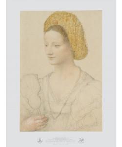 Bernardino Luini, Bildnis einer Dame mit Goldhaube und Perlenkette