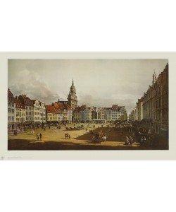 Bernardo Canaletto, Der Altmarkt zu Dresden von der Schloßstraße aus