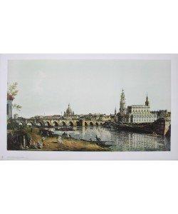 Bernardo Canaletto, Dresden, vom rechten Elbufer unterh.Augustusbrücke