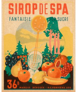 Vintage Booze Labels, Sirop da Spa