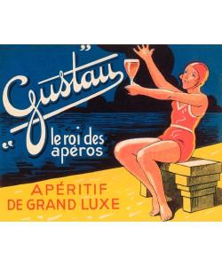 Vintage Booze Labels, Gustau Aperetif