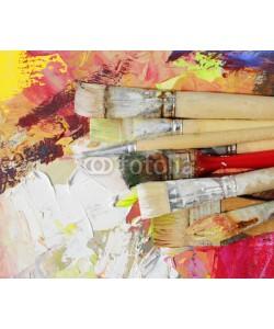 bittedankeschön, borstenpinsel auf gemaltem hintergrund
