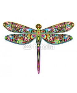 bluedarkat, Dragonfly Psychedelic Art Design-Libellula Pop Art