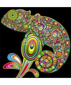 bluedarkat, Chameleon Psychedelic Art Design-Camaleonte Psichedelico-Vector
