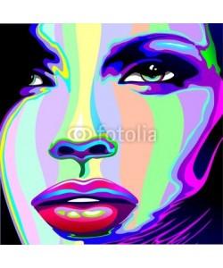 bluedarkat, Girl's Portrait Psychedelic Rainbow-Viso Ragazza Psychedelico