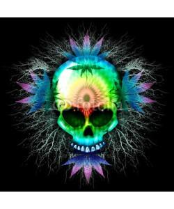 bluedarkat, Marijuana Psychedelic Skull