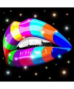 bluedarkat, Sensual Lips Psychedelic Rainbow-Bocca Sensuale Arcobaleno