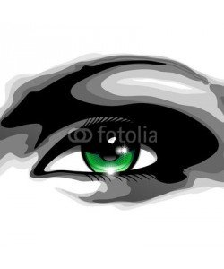 bluedarkat, Woman's Green Eye-Occhio Verde di Donna-Vector