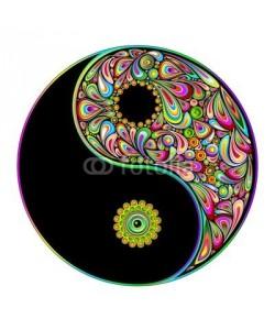 bluedarkat, Yin Yang Symbol Psychedelic Art Design-Simbolo Psichedelico