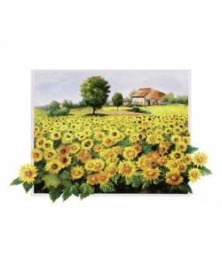 Bosman Johan, Field with Sunflowers