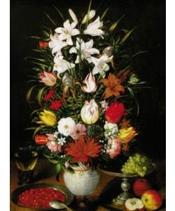 Pieter Brueghel der Jüngere, Vaso ornato di fiori