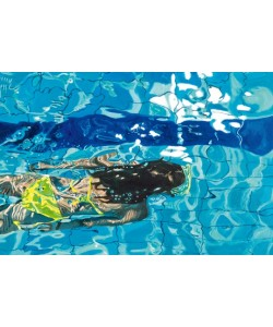 Brigitte Yoshiko, Die blaue Schwimmerin No. 5