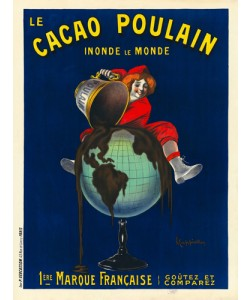 Leonetto Cappiello, Le cacao Poulain inonde le monde, 1911