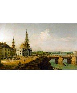 Canaletto       , Dresden, Blick vom rechten Elbe_