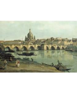 Giovanni Antonio Canaletto, Dresden vom rechten Elbufer