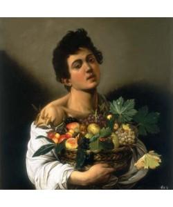 Michelangelo Caravaggio, Junger Mann mit Fruchtkorb