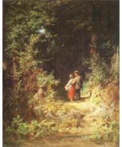 Carl Spitzweg, Liebespaar im Walde