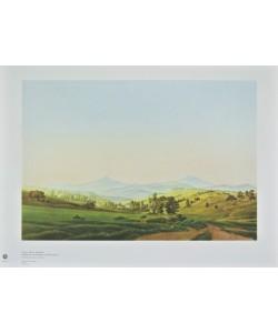 Caspar David Friedrich, Böhmische Landschaft mit dem Milleschauer