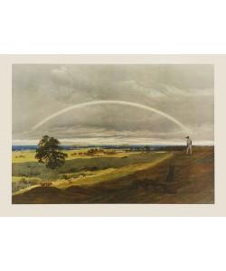 Caspar David Friedrich, Landschaft mit Regenbogen (Kupfertiefdruck)